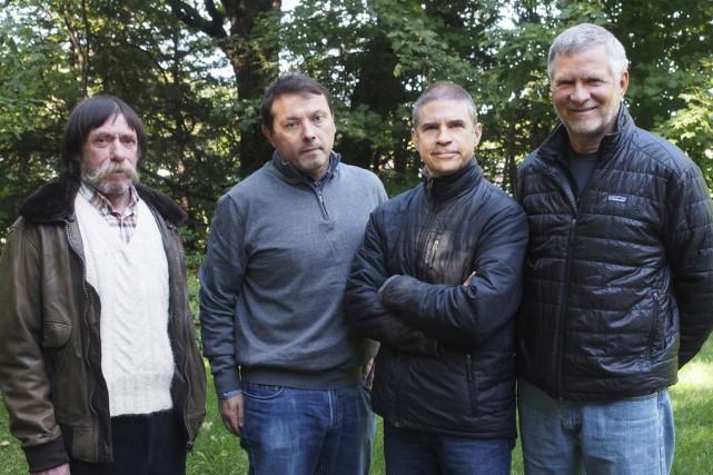 Les Bromontois Jean-Pierre Domec, Éric Troncy, Bertrand Lussier... (photo Alain Dion)