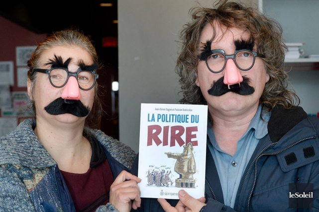 Le collègue Jean-Simon Gagné collectionne les blagues depuis au moins 20 ans.... (Le Soleil, Jean-Marie Villeneuve)