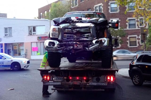 Le camion présumé de Zack Kassian du Canadien,...