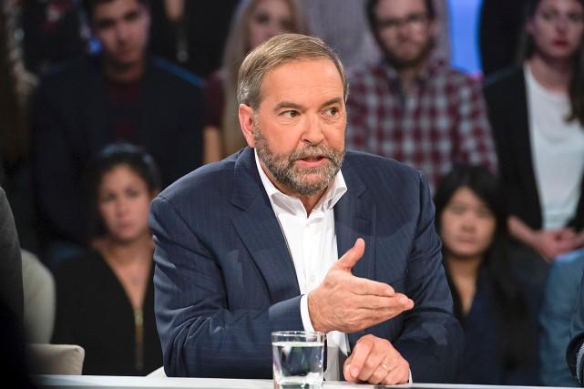 Thomas Mulcair, de passage à l'émission Tout le... (Photo fournie par Ici Radio-Canada)