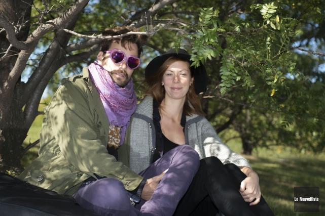 James Forest et Mélissa Brouillette forment le duo... (Photo: Stéphane Lessard, Le Nouvelliste)