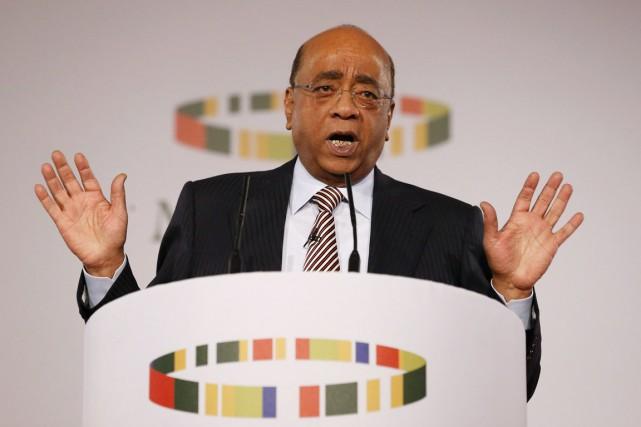 Mo Ibrahim, homme d'affaires soudanais naturalisé britannique, a... (PHOTO JUSTIN TALLIS, ARCHIVES AFP)