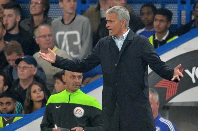 L'entraîneur de Chelsea, José Mourinho.... (Photo Glyn Kirk, AFP)