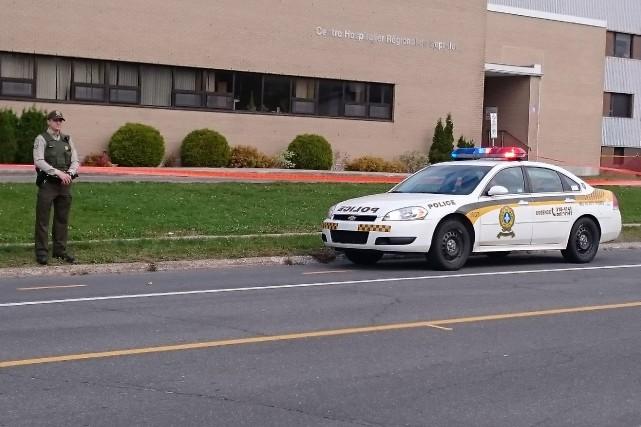 La Sûreté du Québec assurait une présence policière... (Collaboration spéciale, Fanny Lévesque)