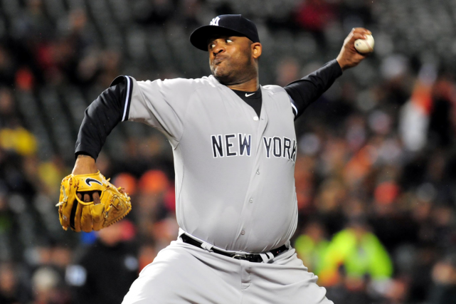 Le lanceur des Yankees C.C. Sabathia ratera les séries... (Photo Evan Habeeb, USA Today)