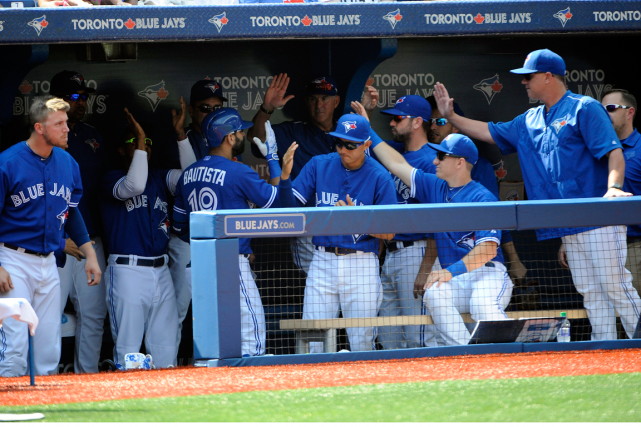 Les Blue Jays de Toronto affronteront les Rangers... (Photo Peter Llewellyn, USA Today)