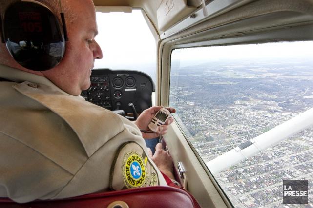 Du haut des airs, on est à même de constater que certains automobilistes... (Archives La Presse)