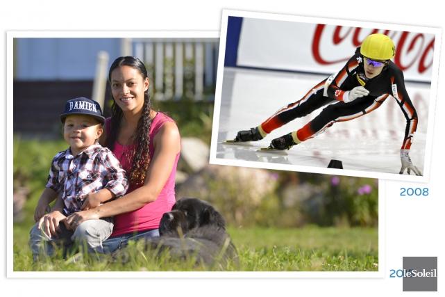 L'ex-championne du monde de patinage de vitesse courte... (Le Soleil, Yan Doublet)