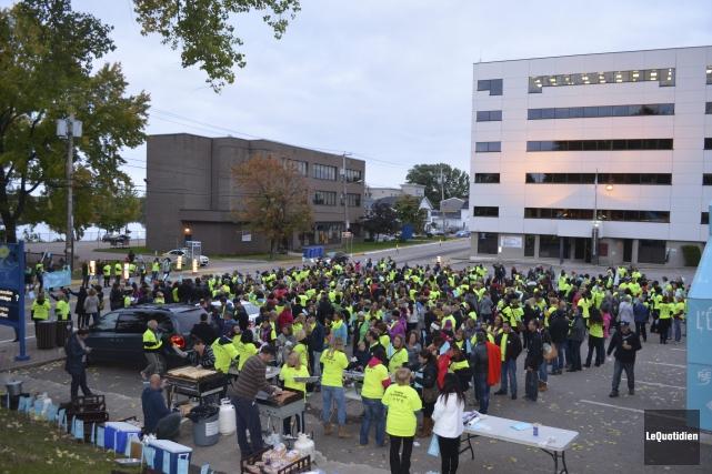Près de 700 professeurs du Lac-Saint-Jean ont participé... ((Photo Le Quotidien Louis Potvin))