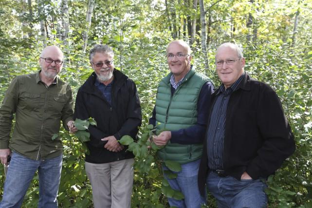 Bernard Valiquette, François Leduc, Mario Fortin et René... (photo Alain Dion)