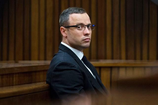 Oscar Pistorius pendant son procès, en mai 2014... (PHOTO DANIEL BORN, ARCHIVES AFP)