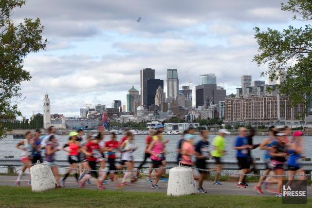 Dimanche dernier, je devais courir 21 km. (Photo Robert Skinner, archives La Presse)