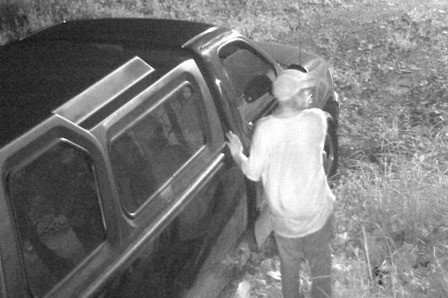 Un individu suspect est recherché par le Service de police de Sherbrooke après... (Photo fournie par le SPS)