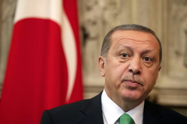 Le président turc Recep Tayyip Erdogan a été... (PHOTO NICOLAS MAETERLINCK, AFP/BELGA)