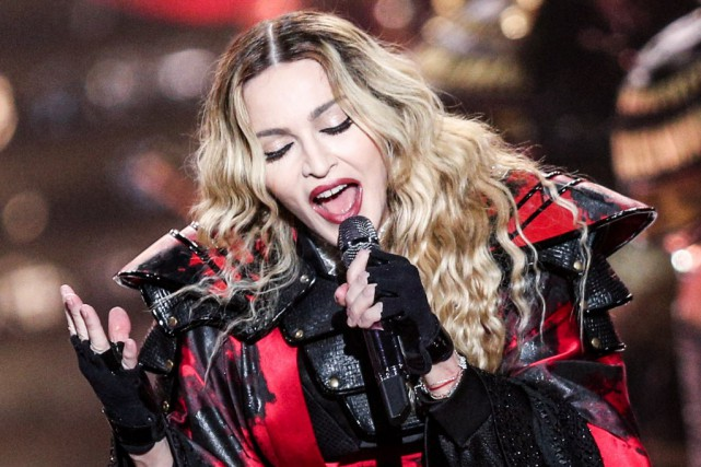 Madonna, lors de son concert à Montréal, le... (PHOTO ARCHIVES AP)