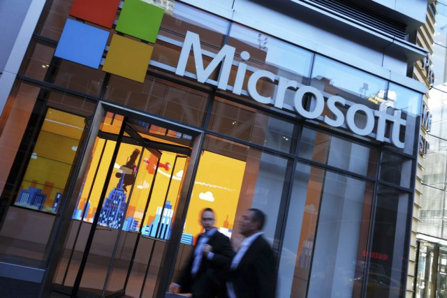 La part de marché de Microsoft dans le... (PHOTO JEWEL SAMAD, AGENCE FRANCE-PRESSE)