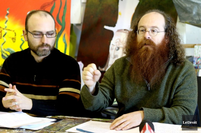 Martin Chartrand et Yves Séguin du CRIO.... (Patrick Woodbury, Archives LeDroit)