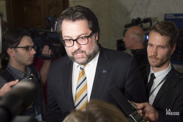 Le ministre de l'Environnement, David Heurtel... (Photo Jacques Boissinot, La Presse Canadienne)