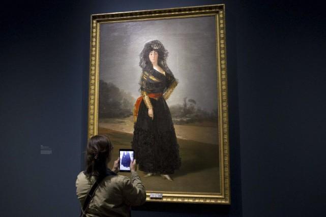 L'un des joyaux de l'exposition est le portrait... (PHOTO AFP)