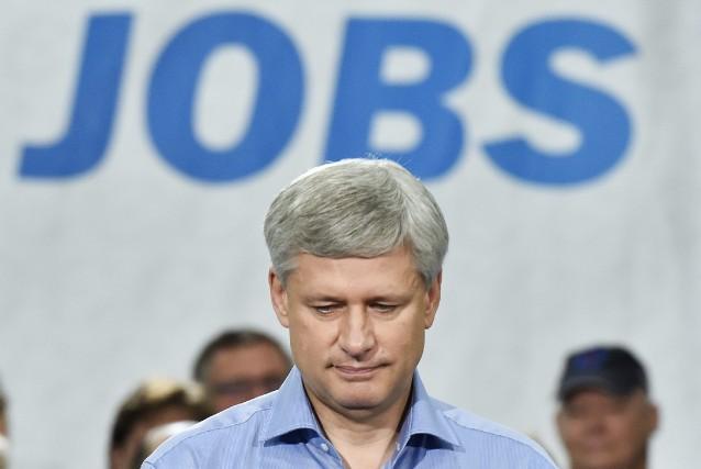 Le premier ministre et chef du Parti conservateur,... (Photo Nathan Denette, La Presse Canadienne)
