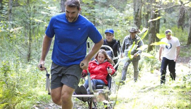 Pour permettre aux gens à mobilité réduite de... (photo fournie par Steve Charbonneau)