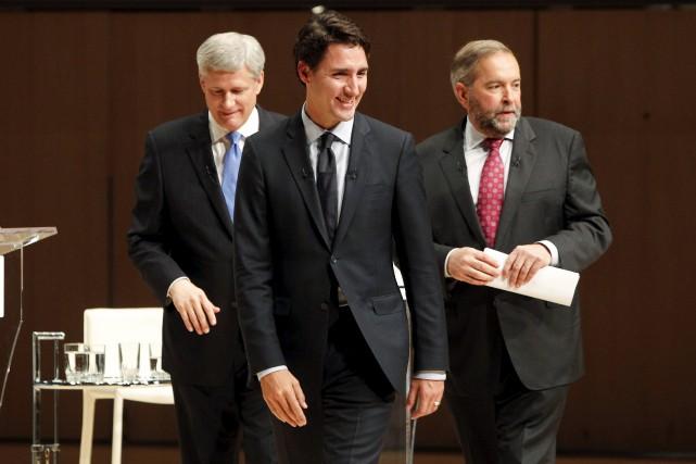 Les chefs en campagne ont tous dû faire... (PHOTOFRED THORNHILL, REUTERS)