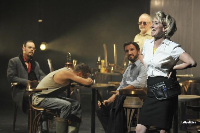 La pièce Saint-André-de-l'Épouvante a attiré 1500 personnes à... (Archives Le Quotidien, Rocket Lavoie)