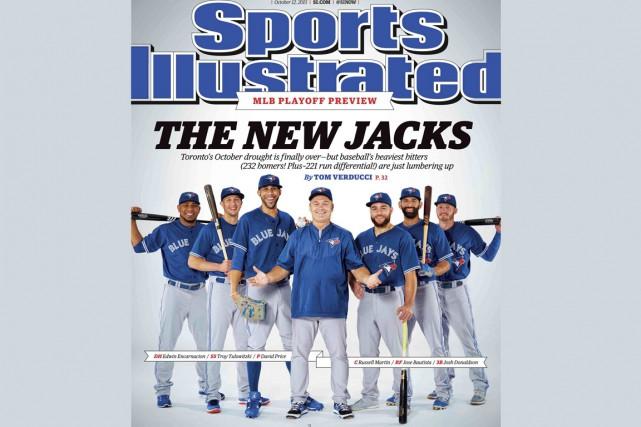 Les Blue Jays de Toronto sont en page couverture de la plus récente édition de... (Photo La Presse Canadienne)