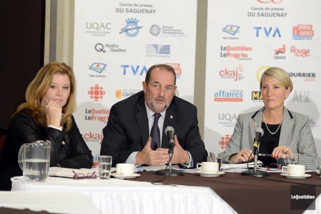 Les candidats conservateurs de la région, Ursula Larouche,... (Photo Le Quotidien, Jeannot Lévesque)