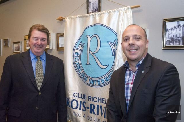 L'ex-député de Trois-Rivières Pierre-H. Vincent était l'invité, mardi,... (Photo: Stéphane Lessard, Le Nouvelliste)