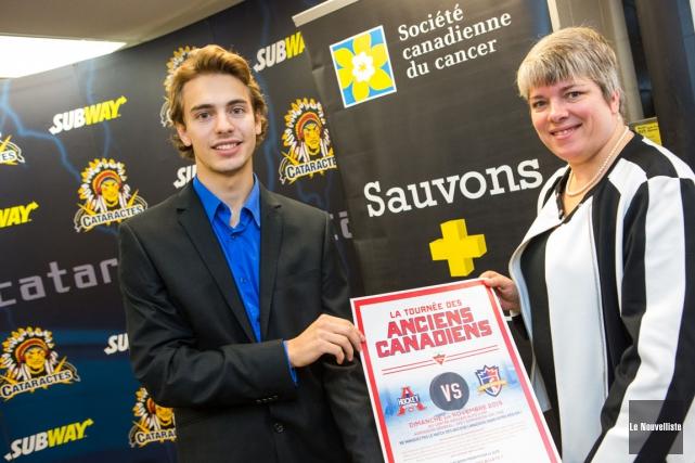 Le promoteur de l'événement David Montour et la... (Photo: Olivier Croteau, Le Nouvelliste)