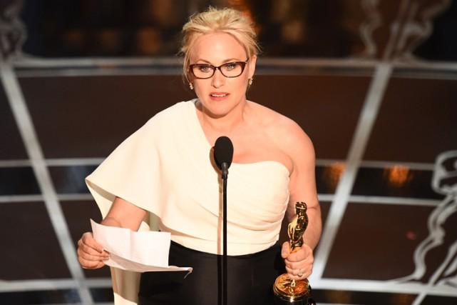 En recevant son Oscar en février dernier, Patricia... (PHOTO AFP)