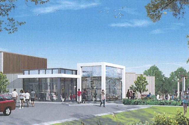 Les plans préliminaires réalisés par l'architecte Caroline Denommée... (illustration fournie par la Ville de Granby)