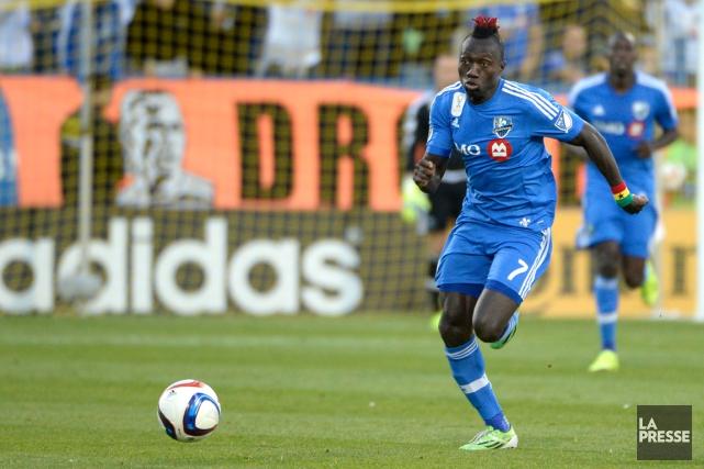 Dominic Oduro connaît sa meilleure saison sur le... (Photo Bernard Brault, La Presse)