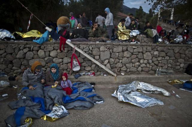 Plus de 400 000 personnes sont arrivées en... (Photo Muhammed Muheisen, AP)