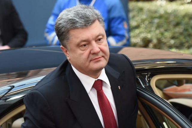 Le président ukrainien, Petro Porochenko.... (Photo EMMANUEL DUNAND, archives AFP)