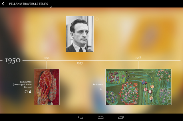 Capture d'écran de l'application Android pour l'expérience interactive... (PHOTO FOURNIER PAR MIREGO)