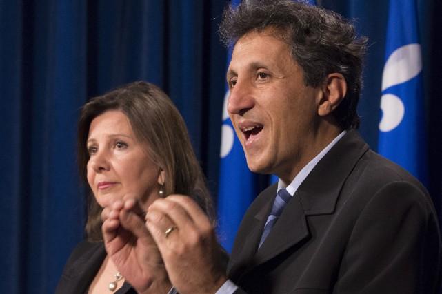 Diane Lamarre du Parti québécois et Amir Khadir... (La Presse Canadienne, Jacques Boissinot)