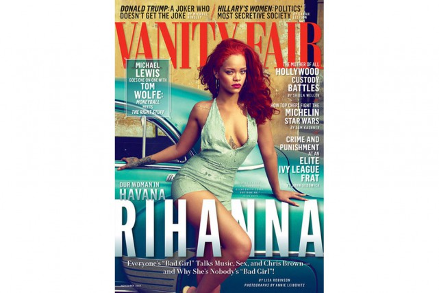 Croquée à Cuba par la célèbre photographe Annie Leibovitz, Rihanna orne la page...