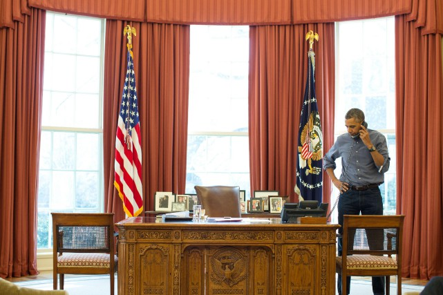 Barack Obama a appelé, depuis le Bureau ovale,... (Photo archives Reuters/Maison-Blanche)