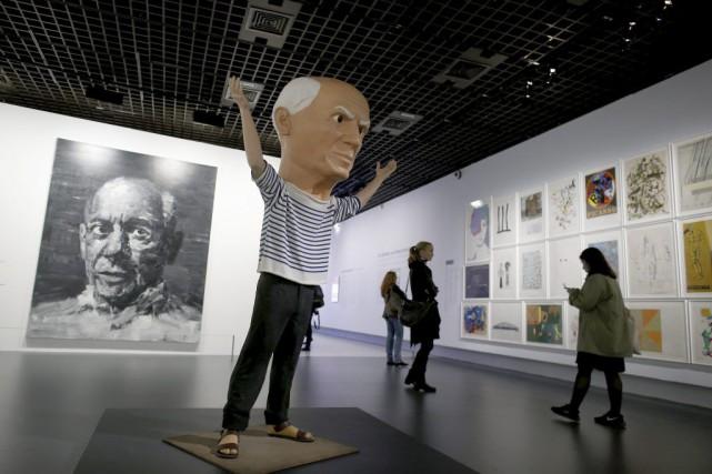 Picasso était un génie de la peinture mais aussi un mythe: à travers 400... (PHOTO AFP)