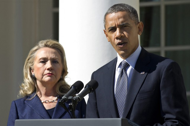 Hillary Clinton et Barack Obama en septembre 2012.... (ARCHIVES AP)