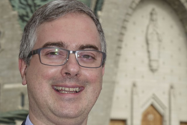 Le père Pierre-Olivier Tremblay, nouveau recteur du Sanctuaire...