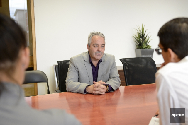 Le président de la Chambre de commerce du... (Photo Le Quotidien, Jeannot Lévesque)