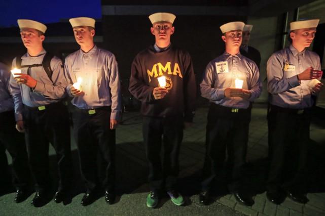 Des étudiants de l'école maritime du Maine ont...