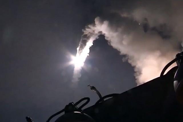 Pour la première fois, des bombardements russes ont... (PHOTO AFP)