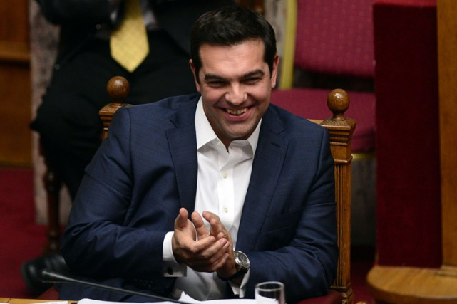 Alexis Tsipras... (PHOTO AFP)