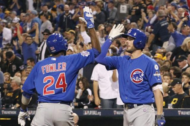 Jake Arrieta a alloué quatre coups sûrs en neuf manches et les Cubs de Chicago... (Charles LeClaire, USA Today Sports)