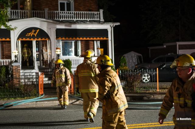 Malgré l'alerte générale, un incendie a été rapidement maîtrisé, mercredi, vers... (Photo: Olivier Croteau, Le Nouvelliste)