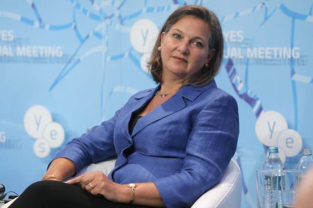 La secrétaire d'État adjointe pour l'Europe, Victoria Nuland... (Photo Efrem Lukatsky, archives AP)